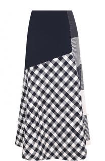 Шерстяная юбка-миди BOSS