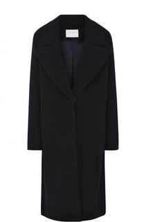 Шерстяное пальто с широкими лацканами BOSS