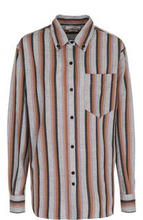 Хлопковая блуза свободного кроя в полоску Isabel Marant Etoile