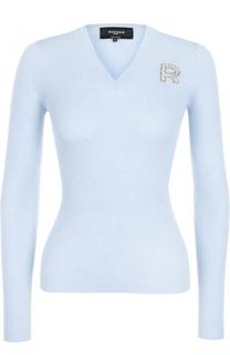 Шерстяной пуловер с круглым вырезом Rochas