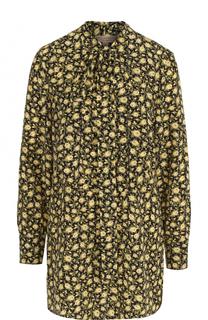 Шелковая блуза свободного кроя с воротником аскот Burberry