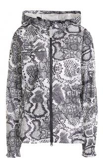 Приталенная куртка с принтом и капюшоном Adidas by Stella McCartney