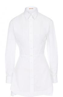 Приталенная хлопковая блуза Alaia