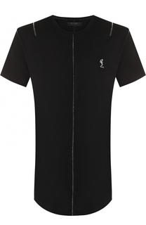 удлиненная хлопковая футболка с круглым вырезом Religion