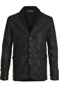 Кожаная куртка на пуговицах с шерстяной спинкой Transit
