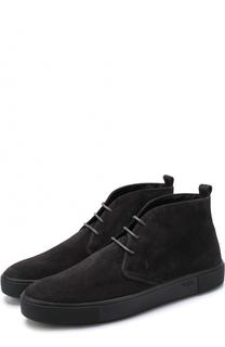 Замшевые ботинки на шнуровке Tod's Tods