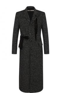 Однобортное пальто с поясом Damir Doma