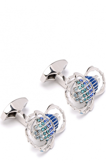 Запонки с кристаллами Swarovski Tateossian