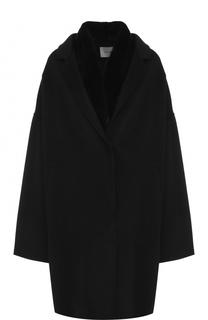 Пальто из смеси шерсти и кашемира с жилетом с меховой отделкой Yves Salomon