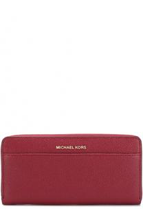 Портмоне на молнии из сафьяновой кожи MICHAEL Michael Kors