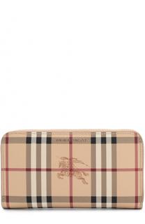 Текстильный кошелек в клетку на молнии Burberry