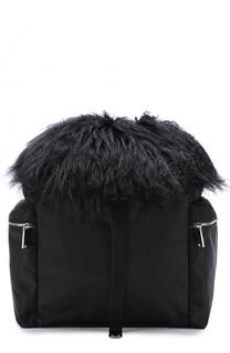 Текстильный рюкзак с отделкой из овчины Dsquared2