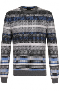 Шерстяной свитер с узором BOSS