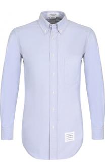 Хлопковая рубашка с отделкой на спине Thom Browne