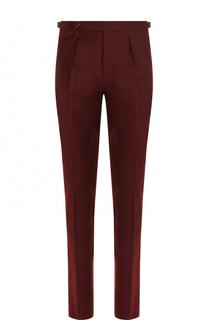 Шерстяные брюки прямого кроя PT01