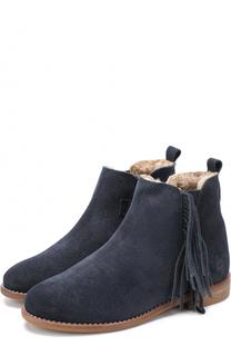 Замшевые ботинки с бахромой Beberlis
