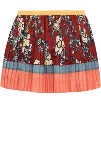 Плиссированная юбка с принтом Dsquared2