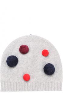 Шерстяная шапка с помпонами Il Gufo