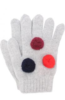Шерстяные перчатки с помпонами Il Gufo