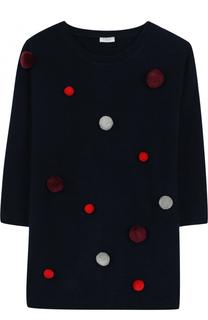 Шерстяное мини-платье с помпонами Il Gufo