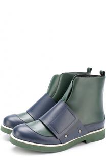 Кожаные ботинки с широкими застежками велькро Marni