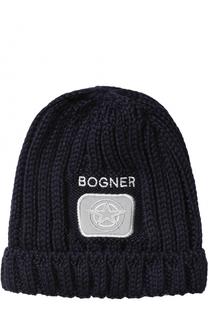 Шапка фактурной вязки Bogner