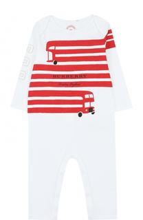 Хлопковая пижама с принтом Burberry