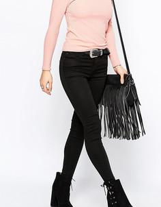 Супермягкие супероблегающие джинсы New Look Petite - Черный