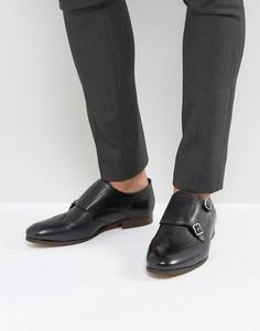 Кожаные монки H London Castleton - Черный