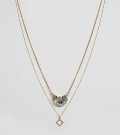 Набор из 2 ожерелий с подвесками DesignB эксклюзивно для ASOS - Золотой
