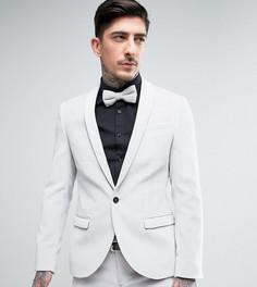 Супероблегающий пиджак из бархата Noose & Monkey - Белый