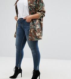 Зауженные джинсы с потертой кромкой River Island Plus Amelie - Синий