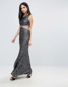 Платье макси с вырезом сбоку Forever Unique - Серый