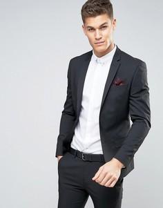 Черный пиджак суперзауженного кроя River Island - Черный
