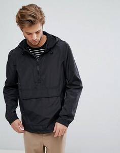 Черная куртка через голову с капюшоном ASOS - Черный
