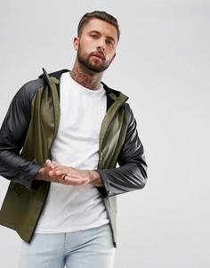 Непромокаемая куртка с контрастными рукавами реглан Another Influence - Зеленый