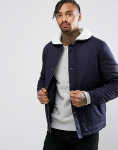 Куртка с воротником из искусственного меха Another Influence - Темно-синий