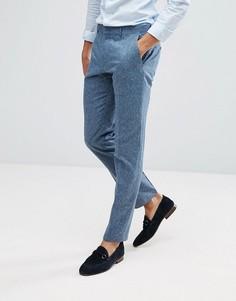 Синие фактурные брюки из 100% шелка ASOS - Синий