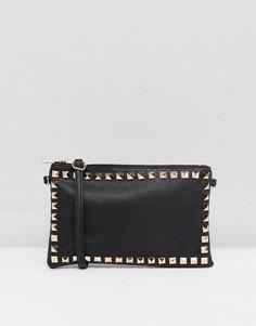Клатч с отделкой заклепками Yoki Fashion - Черный