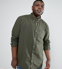 Оксфордская рубашка классического кроя цвета хаки River Island PLUS - Зеленый