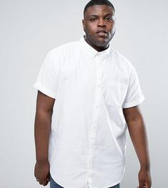 Белая оксфордская рубашка с короткими рукавами River Island PLUS - Белый