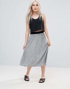 Плиссированная юбка миди B.Young - Серый