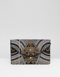 Клатч с декоративной отделкой Park Lane - Черный