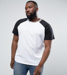 Бейсбольная футболка с рукавами реглан Another Influence PLUS - Темно-синий