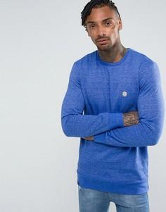 Меланжевый свитер с круглым вырезом Le Breve - Темно-синий
