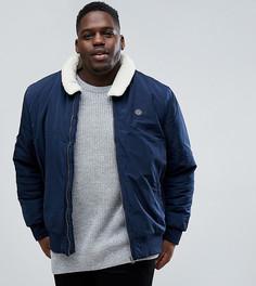 Куртка с воротником из искусственного меха Le Breve PLUS - Темно-синий