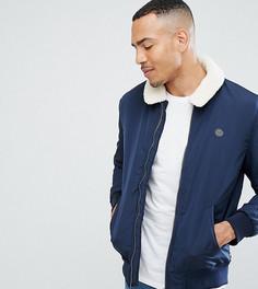 Куртка с меховым воротником Le Breve TALL - Темно-синий