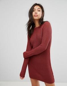 Платье-джемпер с рукавами реглан Brave Soul - Розовый