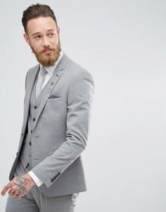 Эластичный приталенный пиджак Harry Brown - Серый