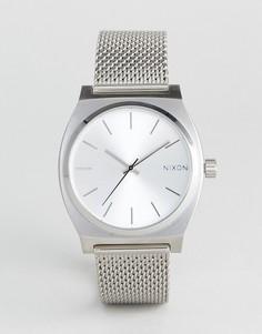 Серебристые часы Nixon Time Teller Luxe - Серебряный